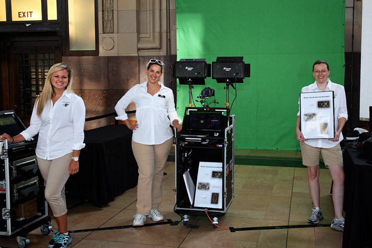 green screen photographers setup
